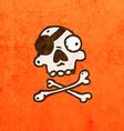 Pirate Skull and Bones Cartoon vector image vector image