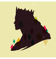 queen silhouette vector image vector image