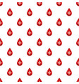 red drop of blood with cross pattern vector image vector image