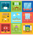 restaurant interior cafe decor dining vector image