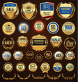 retro golden badge collection 1 vector image vector image