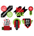 sale badge stickers lables percent discount vector image vector image