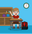 school and student vector image vector image