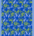seamless cycling pattern vector image