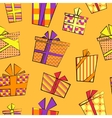 seamless pattern with flat cartoon style present vector image