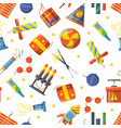 seamless pattern with pyrotechnic tools vector image