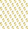 Seamless pattern with shimmering Golden dollar sig vector image vector image