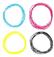 set cmyk circle spots pastel crayon isolated vector image vector image