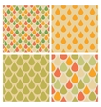 Set of drops seamless patterns in retro vector image