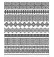 set ornate brushes in modern oriental motifs vector image vector image