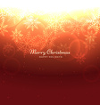 shiny merry christmas background vector image vector image