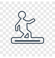 snowboard concept linear icon isolated on vector image