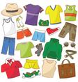 summer menwear vector image vector image
