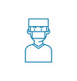 surgeon linear icon concept surgeon line vector image vector image