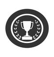 Trophy cup with Laurel wreath icon 1 vector image vector image