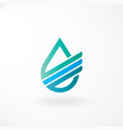 water logo design with financial line vector image