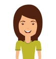 woman avatar isolated icon design vector image vector image
