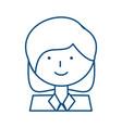 woman profile cartoon vector image vector image