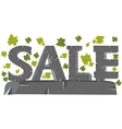 Word of the sale from stone vector image