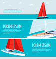yacht club flyers design with sail boat vector image vector image