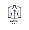 formal jacket line icon outline sign linear vector image