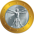 Italian money gold coin euro vector image