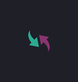 Recycle computer symbol vector image