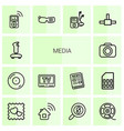 14 media icons vector image vector image
