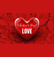 3d red heart design valentines day or wedding vector image vector image
