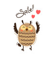 a joyful owl reports a sale vector image