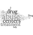 a look at drug abuse treatment centers vector image vector image