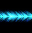 abstract blue arrow light direction on black vector image vector image
