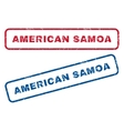 American Samoa Rubber Stamps vector image vector image