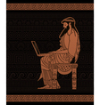 Ancient businessman vector image vector image