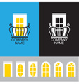 balcony icon with a set different windows vector image