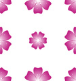 Beautiful pink flower Seamless floral pattern vector image