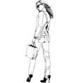 beautiful slender girl vector image vector image