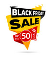 black friday sale label vector image vector image