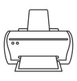 brand printer icon outline style vector image vector image