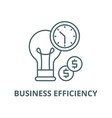 business efficiency line icon linear vector image vector image