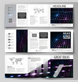 business templates tri fold square brochures vector image vector image