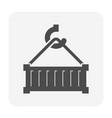 cargo container icon vector image vector image