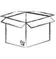 carton box isolated icon vector image vector image