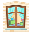 Cartoon window vector image