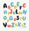 color kid font isolated on vector image vector image