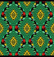 colorful floral greek key meander seamless pattern vector image