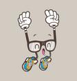 cool nerd glasses mascot vector image