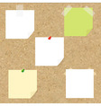 Cork Texture With Blank Note Tag vector image vector image