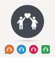 couple love icon traditional young family sign vector image