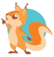 cute squirrel vector image vector image